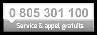 Service & appel gratuits au 0805301100